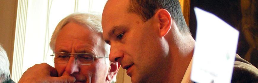 .... mit Bgm. Kollegen Deinhofer aus Seitenstetten